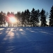 Beim Spazierengehen im Winter